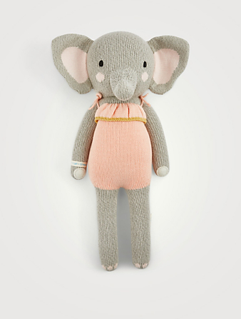 CUDDLE+KIND Eloise The Elephant Knit Doll H Project Multi