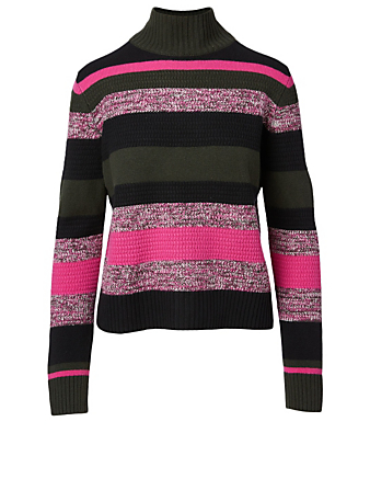 AKRIS PUNTO Wool And Cashmere Turtleneck Sweater Women's Pink