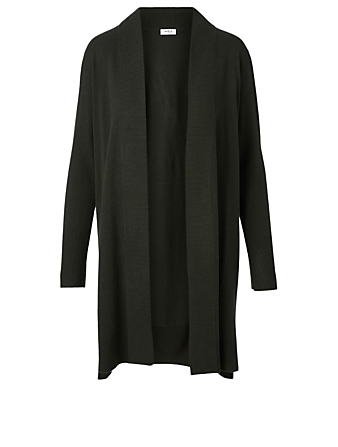 AKRIS PUNTO Wool And Cashmere Open Cardigan Women's Green