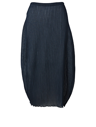JIL SANDER Rib Knit Midi Skirt Women's Blue