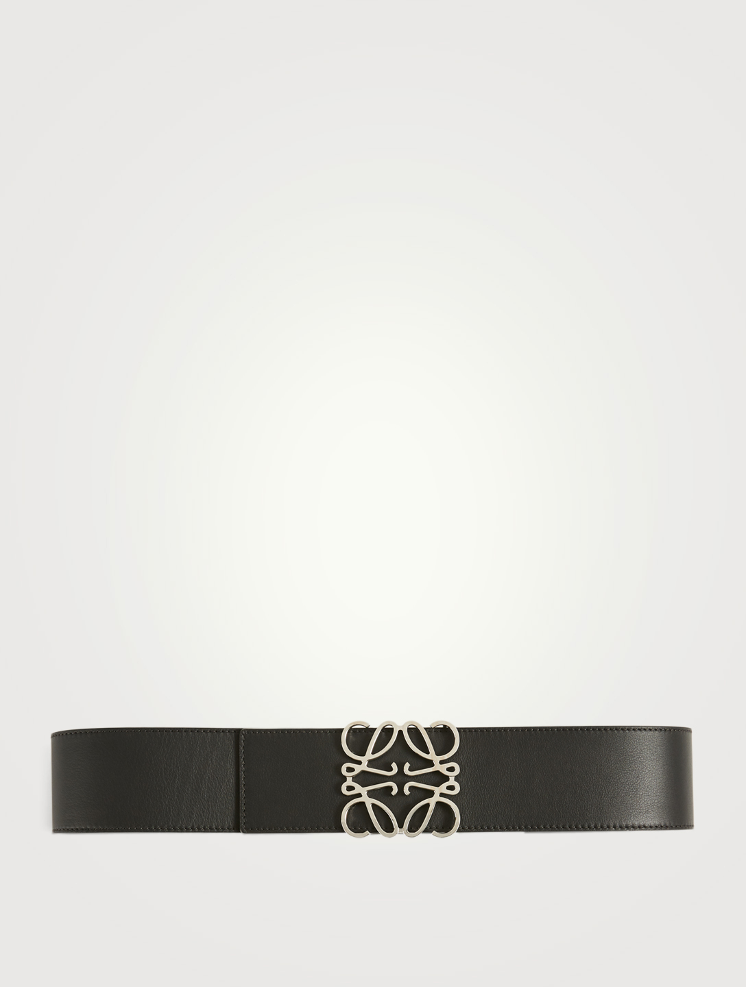 LOEWE Anagram Wide Leather Belt Women's Black