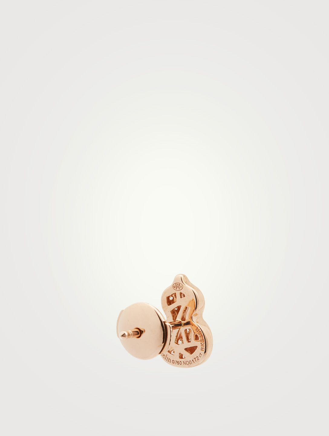 QEELIN Petite Wulu 18K Rose Gold Stud Earring With Diamonds Women's Pink