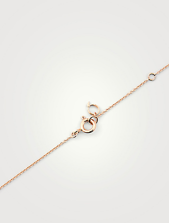 QEELIN Petite Wulu 18K Rose Gold Necklace With Diamonds Women's Pink