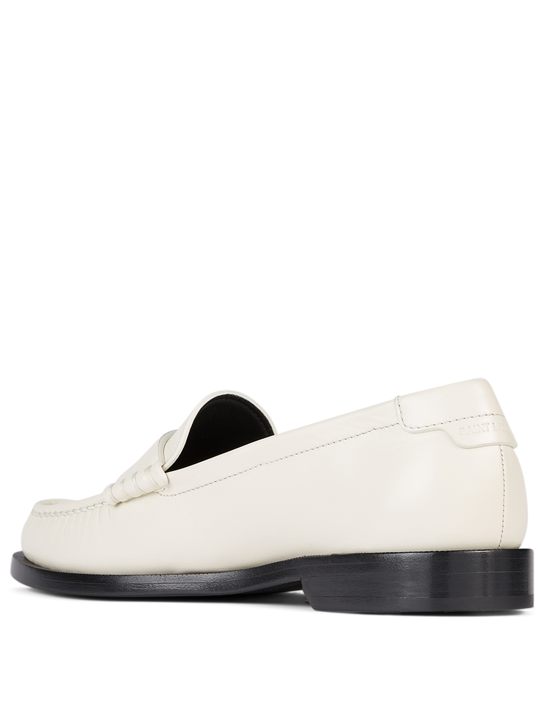 SAINT LAURENT Mocassins Le Loafer en cuir Femmes Blanc