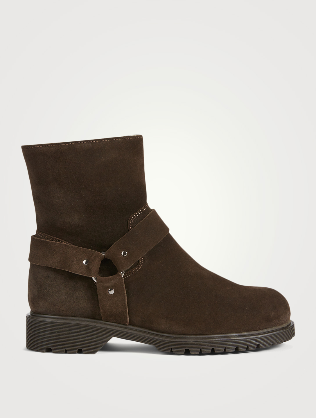 LA CANADIENNE Holden Suede And Shearling Ankle Boots Women's Brown