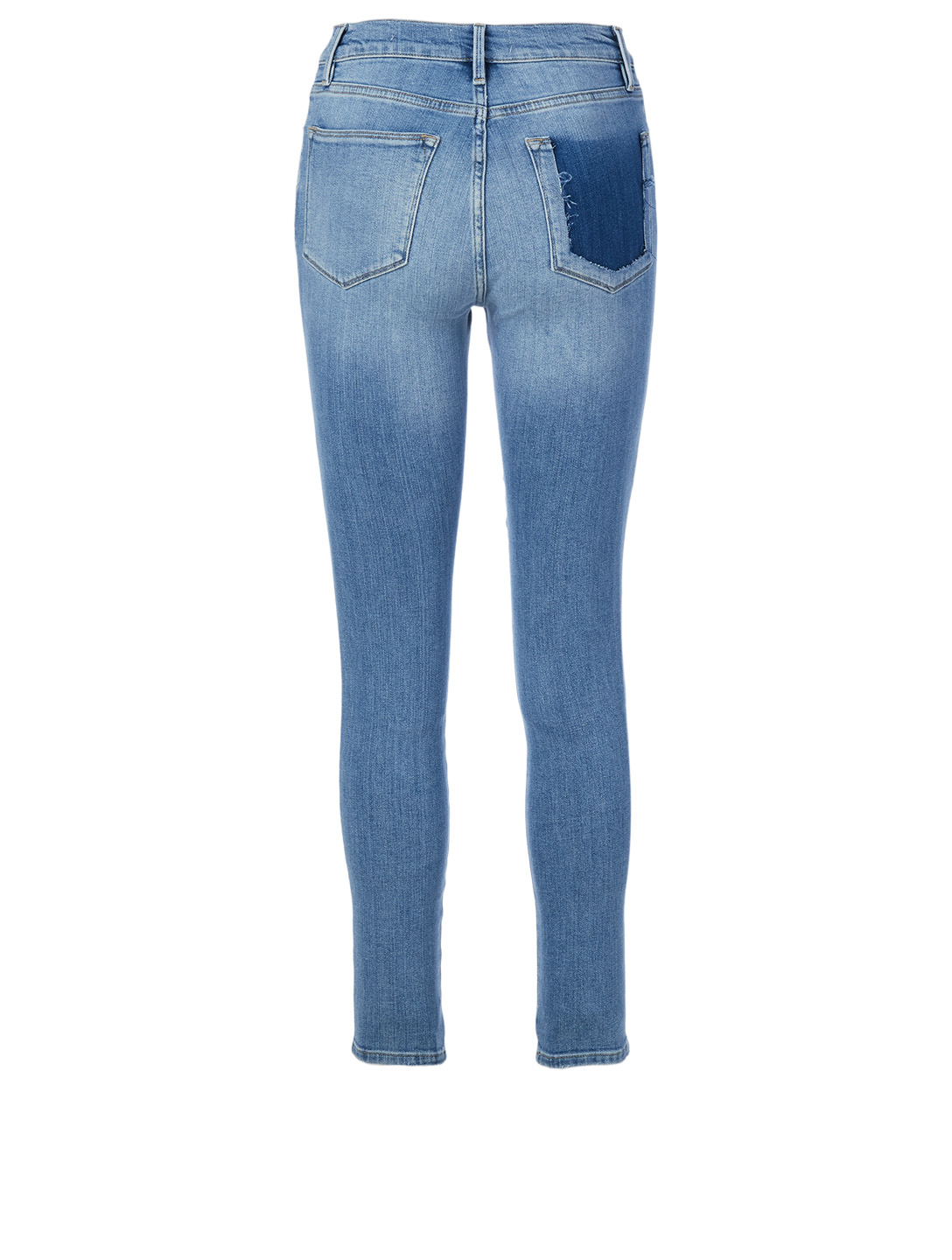 FRAME Le High Skinny Double Needle Jeans Women's Blue