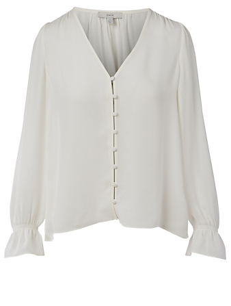 JOIE Bolona Silk Blouse Women's White