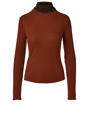 REJINA PYO Cameron Wool-Blend Reversible Top Women's Brown