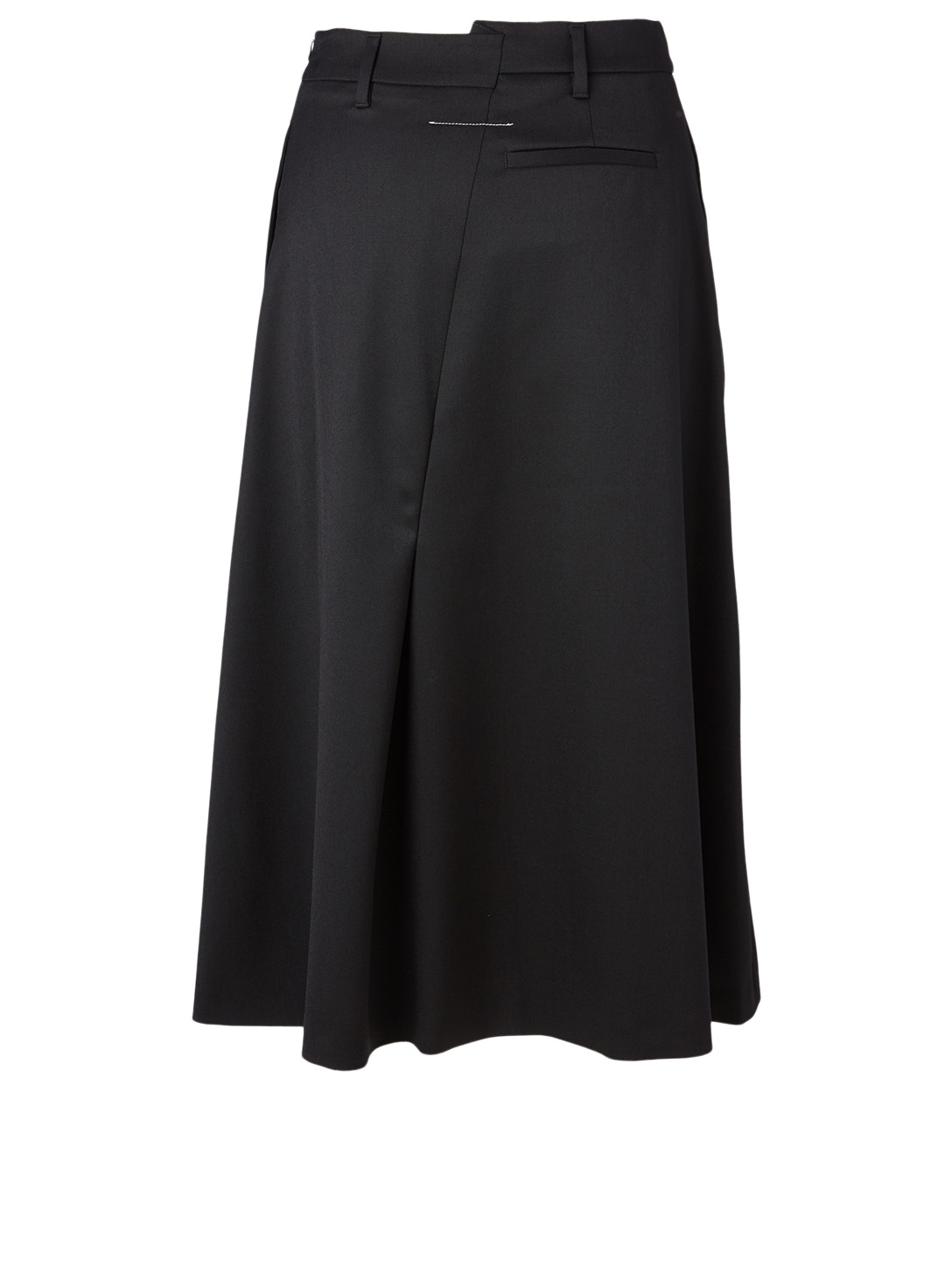 MM6 MAISON MARGIELA Asymmetric Midi Skirt Women's Black