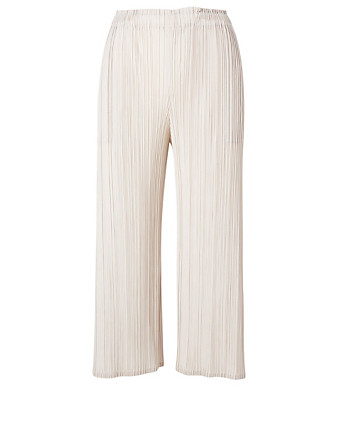 PLEATS PLEASE ISSEY MIYAKE Mellow Pleats Pants Women's Beige