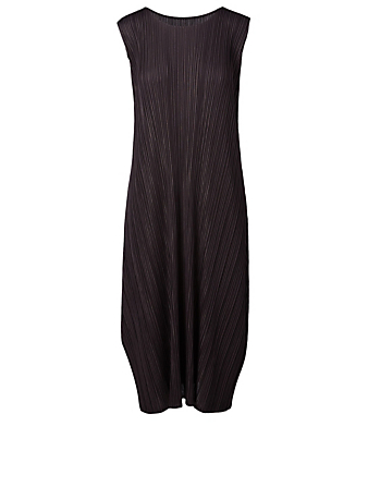 PLEATS PLEASE ISSEY MIYAKE Robe mi-longue Mellow Pleats Femmes Gris