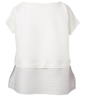PLEATS PLEASE ISSEY MIYAKE Stone Gradation Drawstring Top Women's Grey