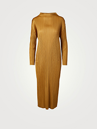 PLEATS PLEASE ISSEY MIYAKE Robe mi-longue Monthly Colour October Femmes Jaune