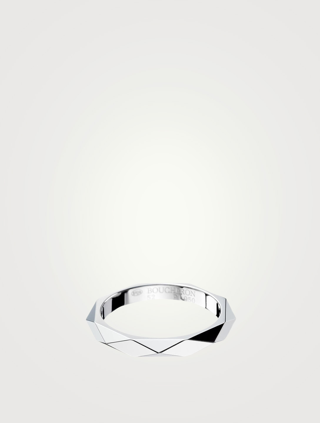 BOUCHERON Facette Platinum Wedding Band Women's Metallic