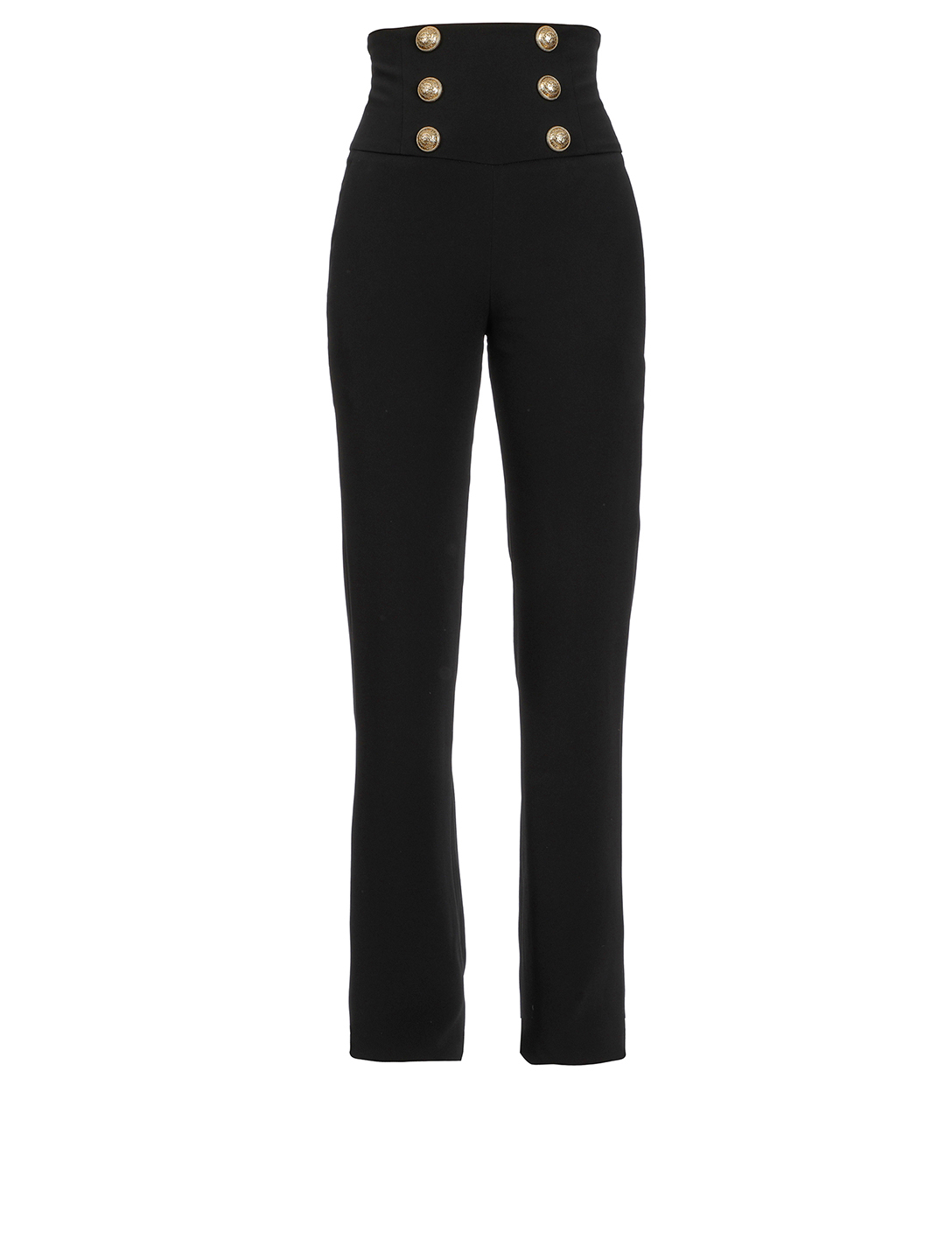 BALMAIN Corset Wide-Leg Pants Women's Black