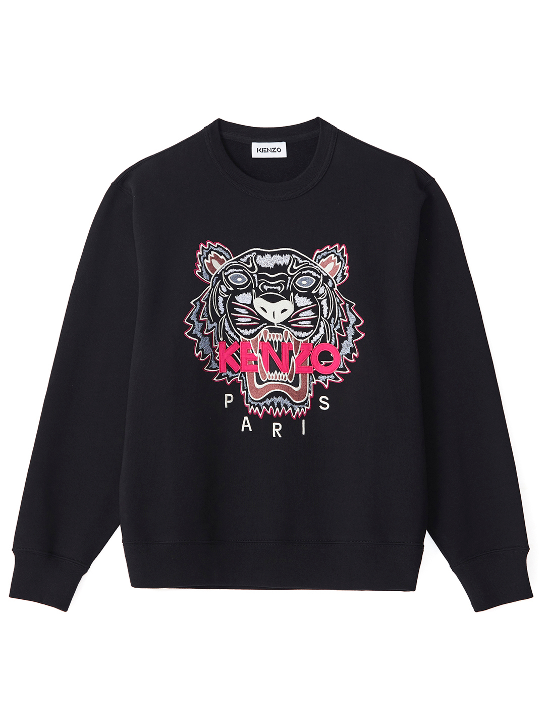 KENZO Cotton Tiger Sweatshirt Women's Black