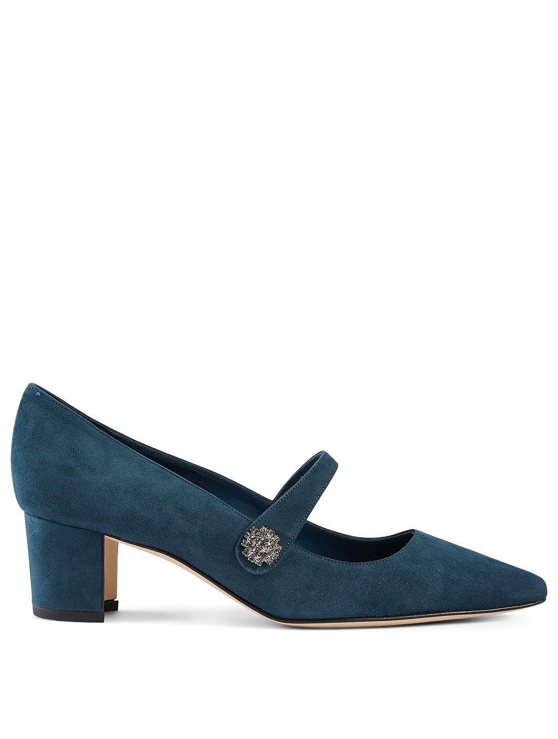 MANOLO BLAHNIK Sajada Suede Mary Jane Pumps Women's Blue