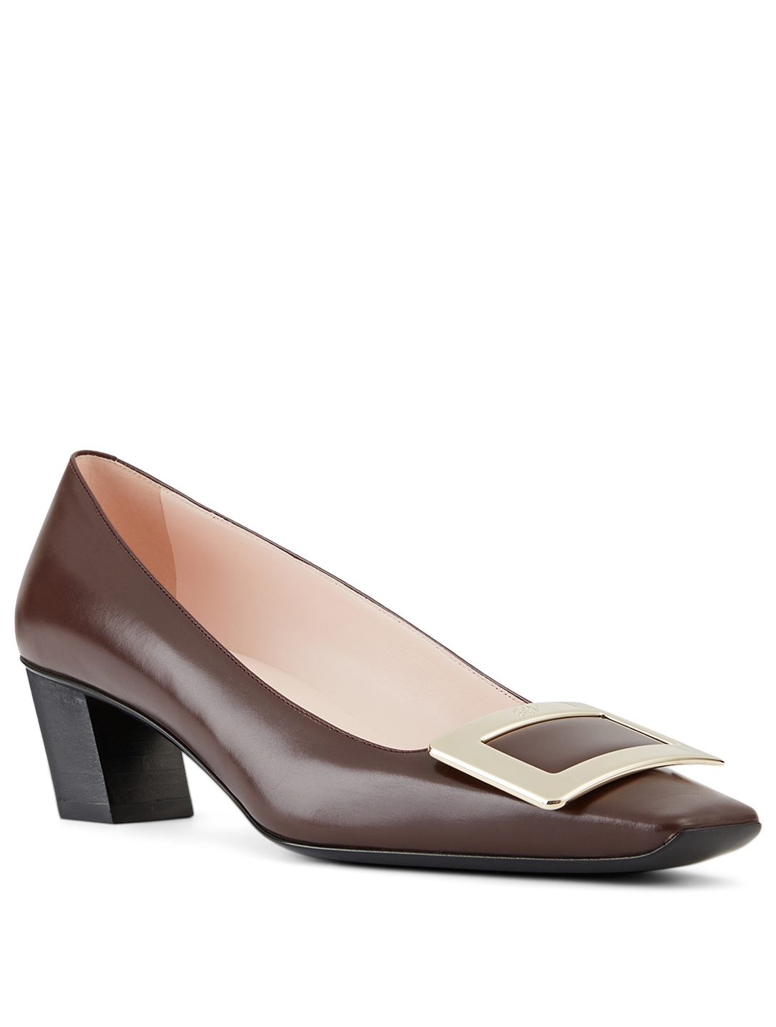 ROGER VIVIER Belle Vivier Leather Pumps Women's Brown
