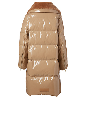 NICOLE BENISTI Alma Long Down Puffer Jacket Women's Brown