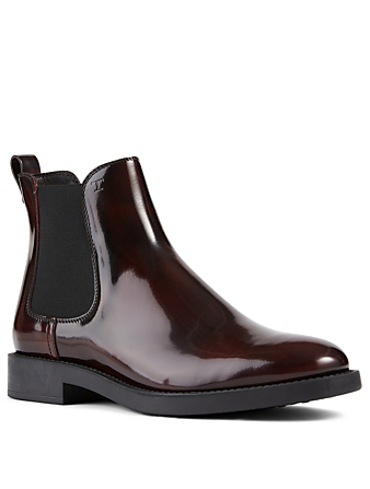 TOD'S Leather Chelsea Boots Women's Red