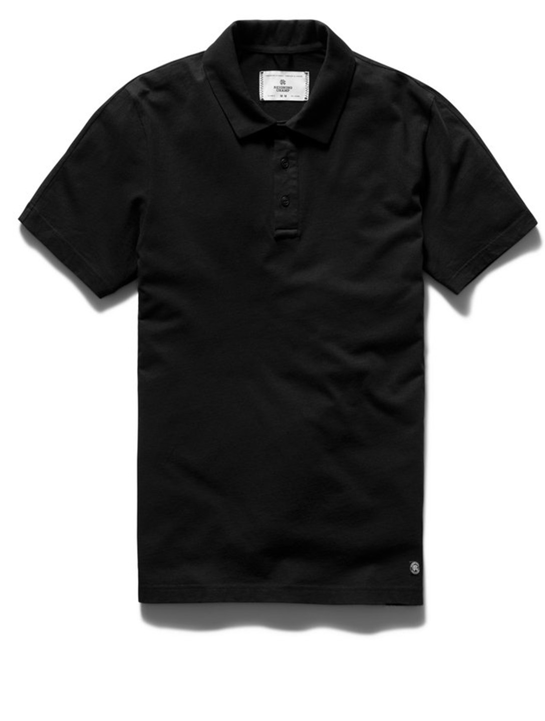 REIGNING CHAMP Pima Cotton Jersey Polo Shirt Men's Black