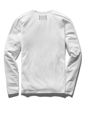 REIGNING CHAMP Cotton Jersey Long-Sleeve T-Shirt Men's White
