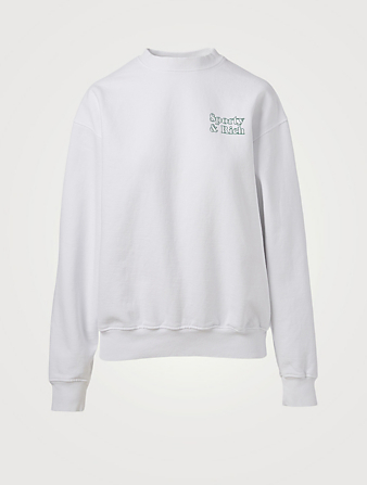 SPORTY & RICH Cotton Sweatshirt With Fun Logo Women's White
