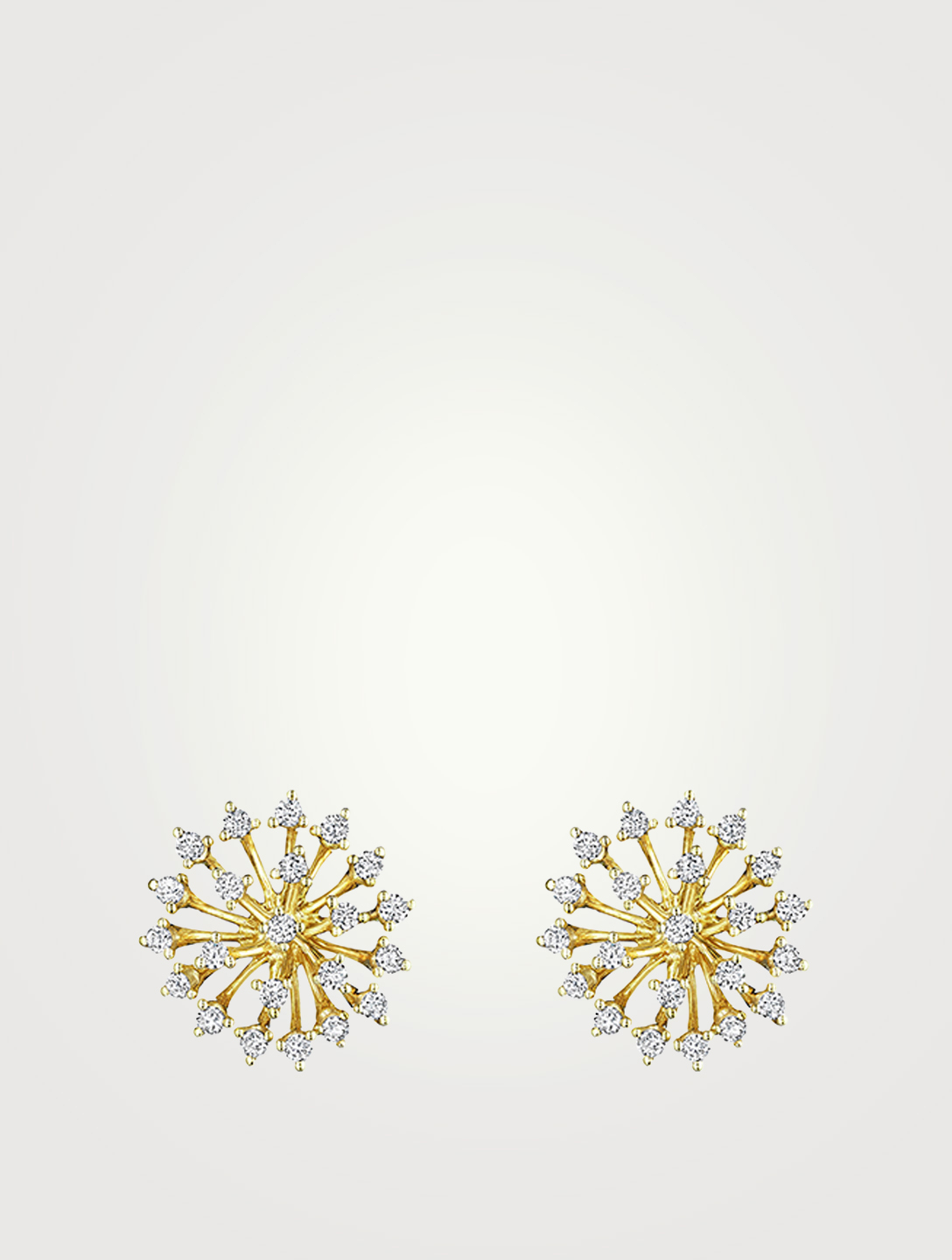 HUEB Boucles d'oreilles Luminus en or 18 ct serties de diamants Femmes Métallique
