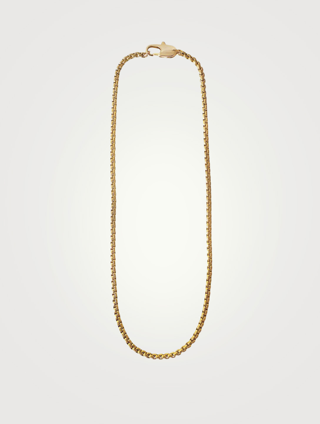 LAURA LOMBARDI 26-Inch 14K Gold Plated Box Chain Necklace Women's Metallic