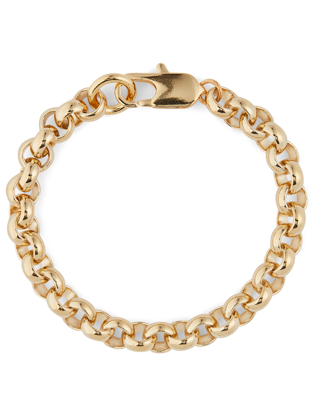 LAURA LOMBARDI 14K Gold Plated Rolo Bracelet Women's Metallic