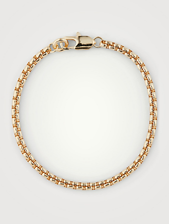LAURA LOMBARDI 14K Gold Plated Box Chain Bracelet Women's Metallic
