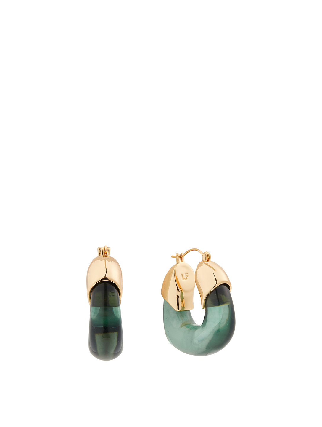 LIZZIE FORTUNATO Organic Hoop Earrings Women's Green