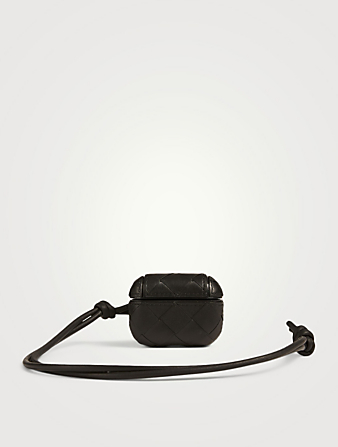 BOTTEGA VENETA Intrecciato Leather AirPod Case Men's Black