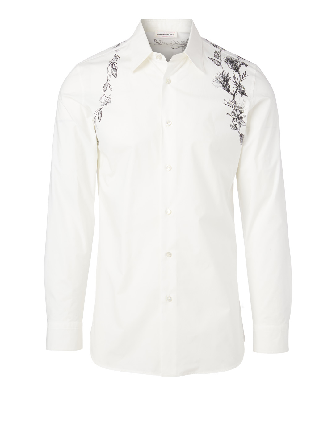ALEXANDER MCQUEEN Cotton Shirt In Floral Harness Print Men's Multi