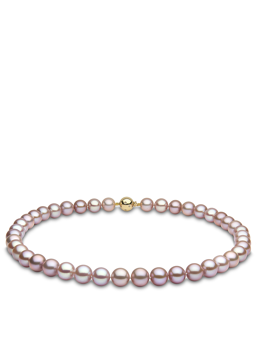 YOKO LONDON Collier de perles en or 18 ct avec diamants Femmes Blanc