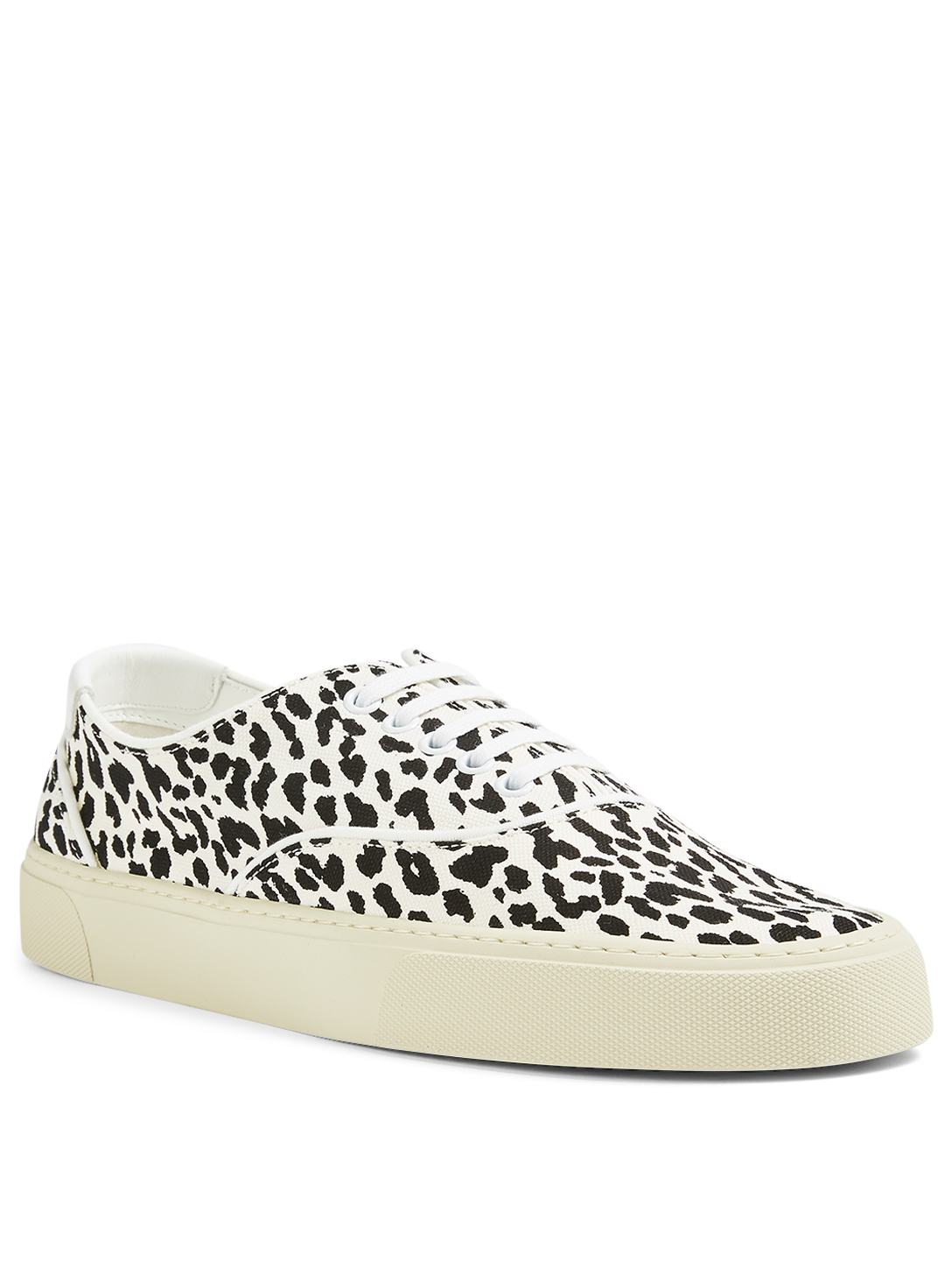 SAINT LAURENT Venice Canvas Sneakers In Leopard Print Men's Multi