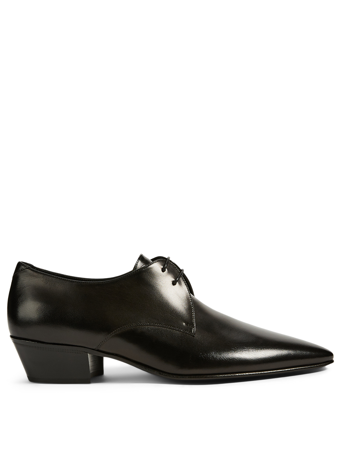 SAINT LAURENT Derbys Billy en cuir Hommes Noir