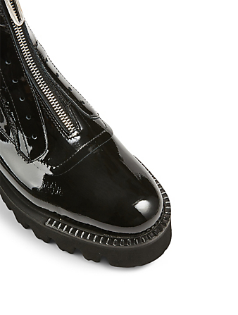 AQUATALIA Angelina Patent Leather Ankle Boots Women's Black