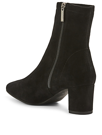 AQUATALIA Britney Suede Heeled Ankle Boots Women's Black