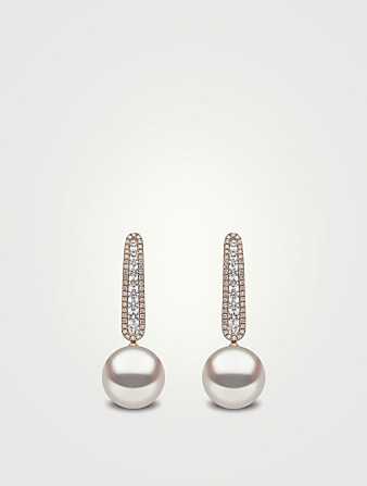 YOKO LONDON Pendants d'oreilles en or rose 18 ct garnis de perles des mers du sud d'Australie et de diamants Femmes Rose