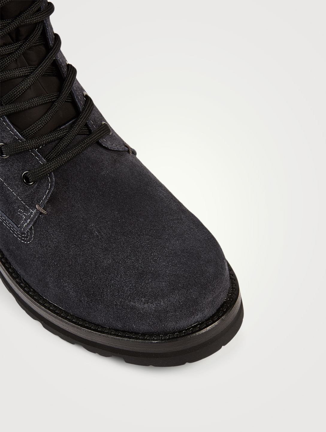 MONCLER Vancouver Suede Lace-Up Ankle Boots Men's Grey