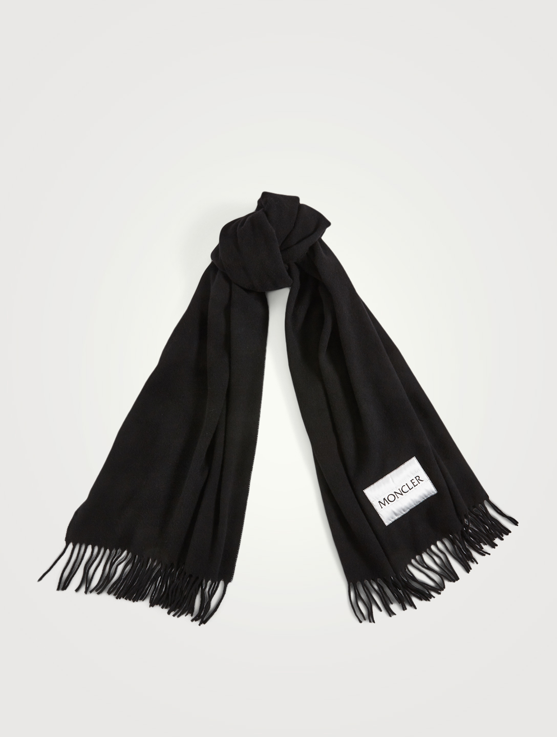 MONCLER Wool Scarf With Logo Women's Black
