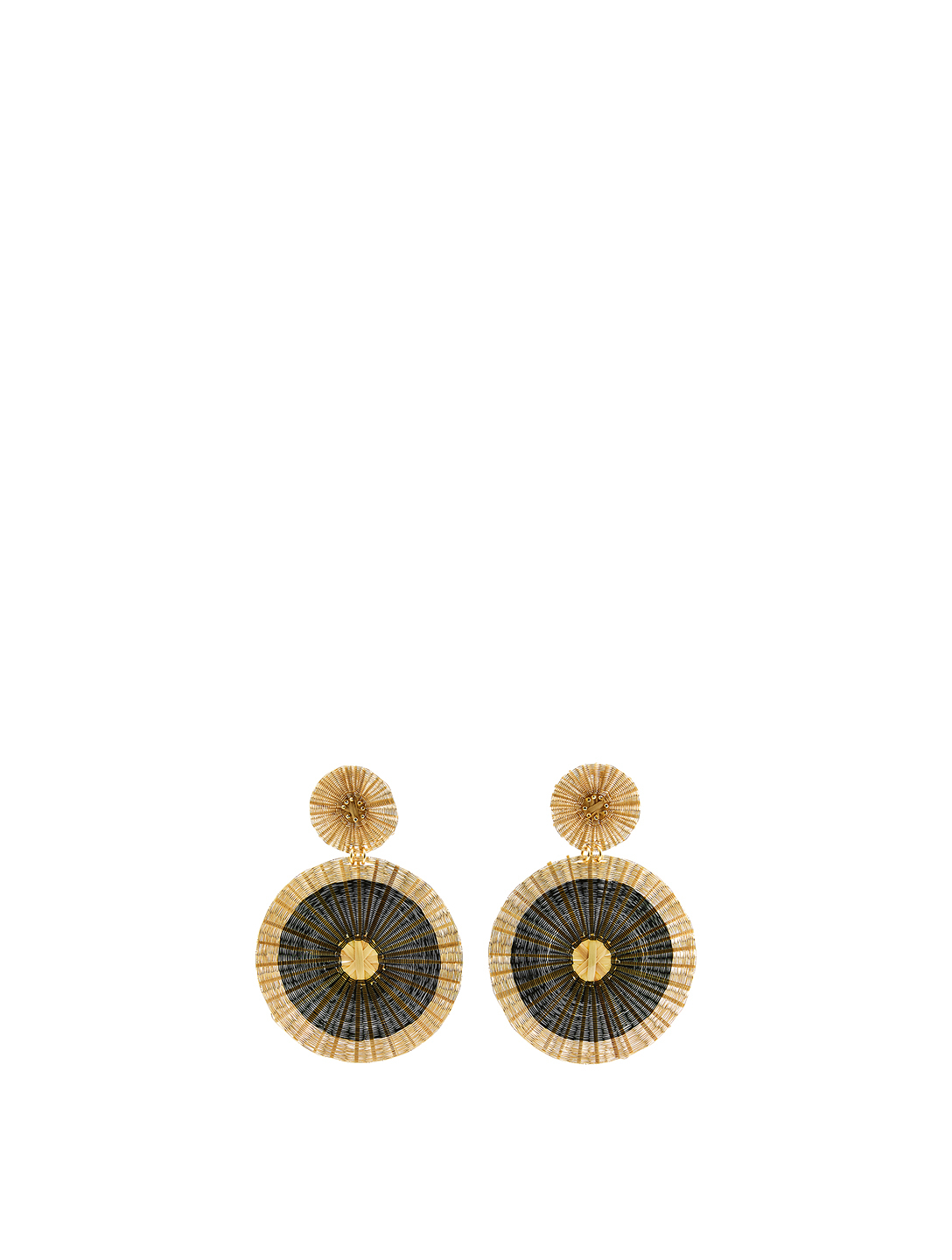 MERCEDES SALAZAR Suns Iraca Palm And Gold-Plated Bronze Drop Earrings H Project Metallic