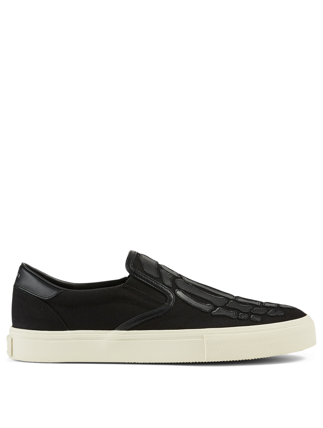 AMIRI Skel-Toe Canvas And Leather Slip-On Sneakers Men's Black