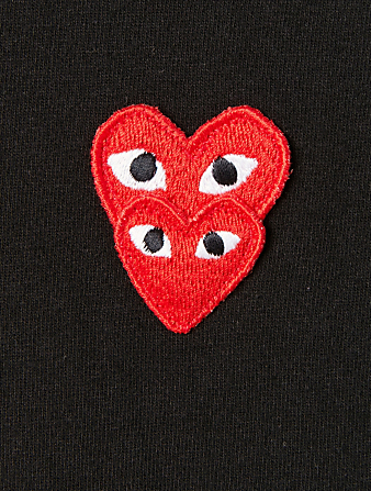 COMME DES GARÇONS PLAY Cotton T-Shirt With Overlapping Heart Men's Black