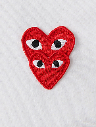 COMME DES GARÇONS PLAY Cotton T-Shirt With Overlapping Heart Men's White