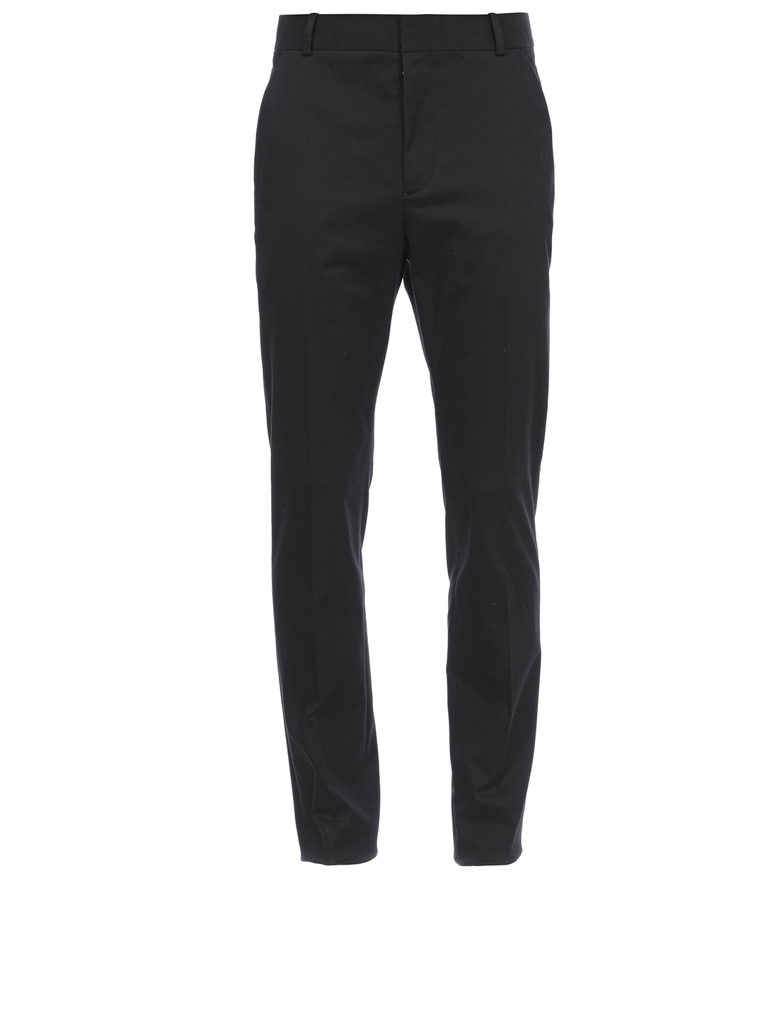 BALMAIN Cotton Stretch Tailored Pants Men's Black