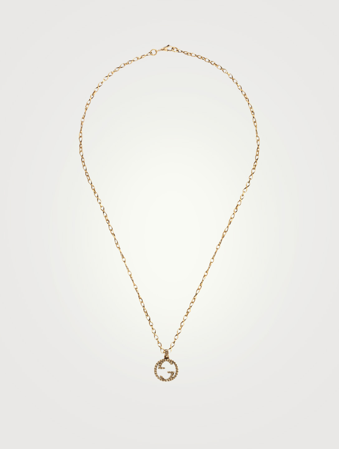 GUCCI 18K Gold Necklace With Interlocking G Women's Metallic