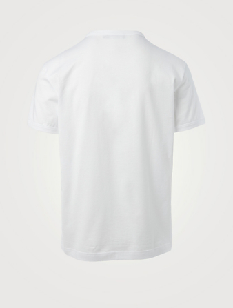 DOLCE & GABBANA Cotton T-Shirt With Logo Embroidery Men's White