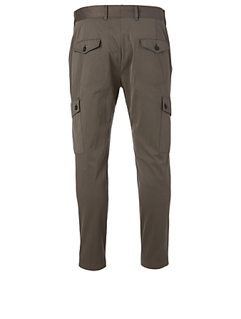 DOLCE & GABBANA Cotton-Blend Pants With Cargo Pockets Men's Grey